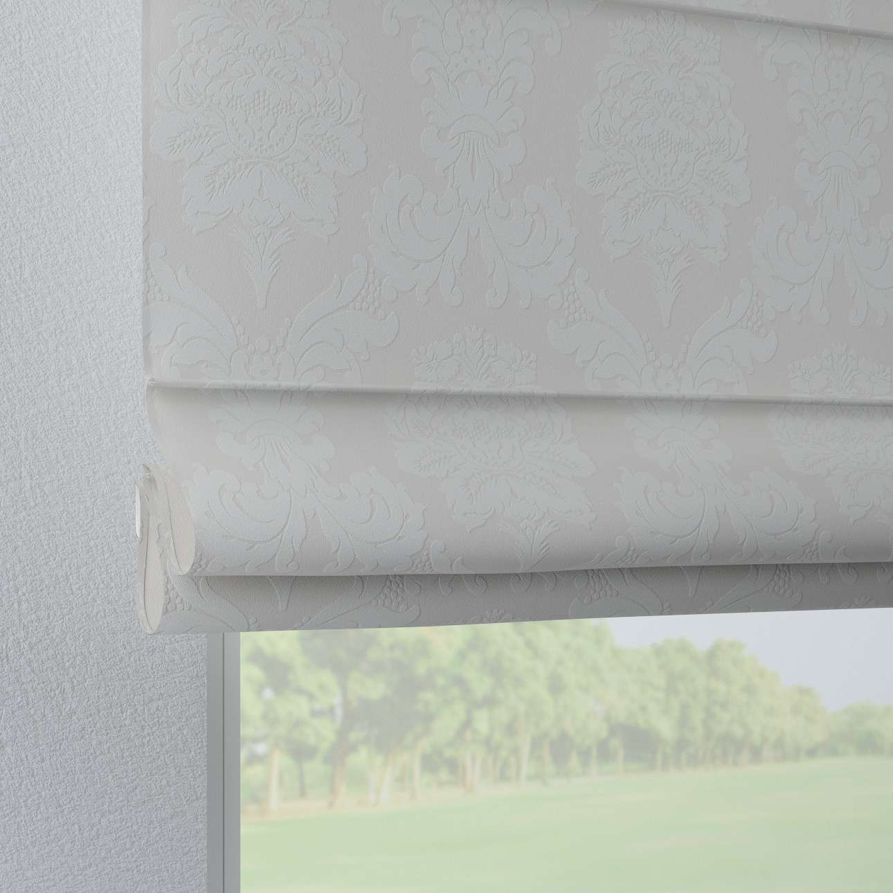 Foldegardin Verona<br/>Med stropper til gardinstang 80 x 170 cm fra kollektionen Damasco, Stof: 613-81