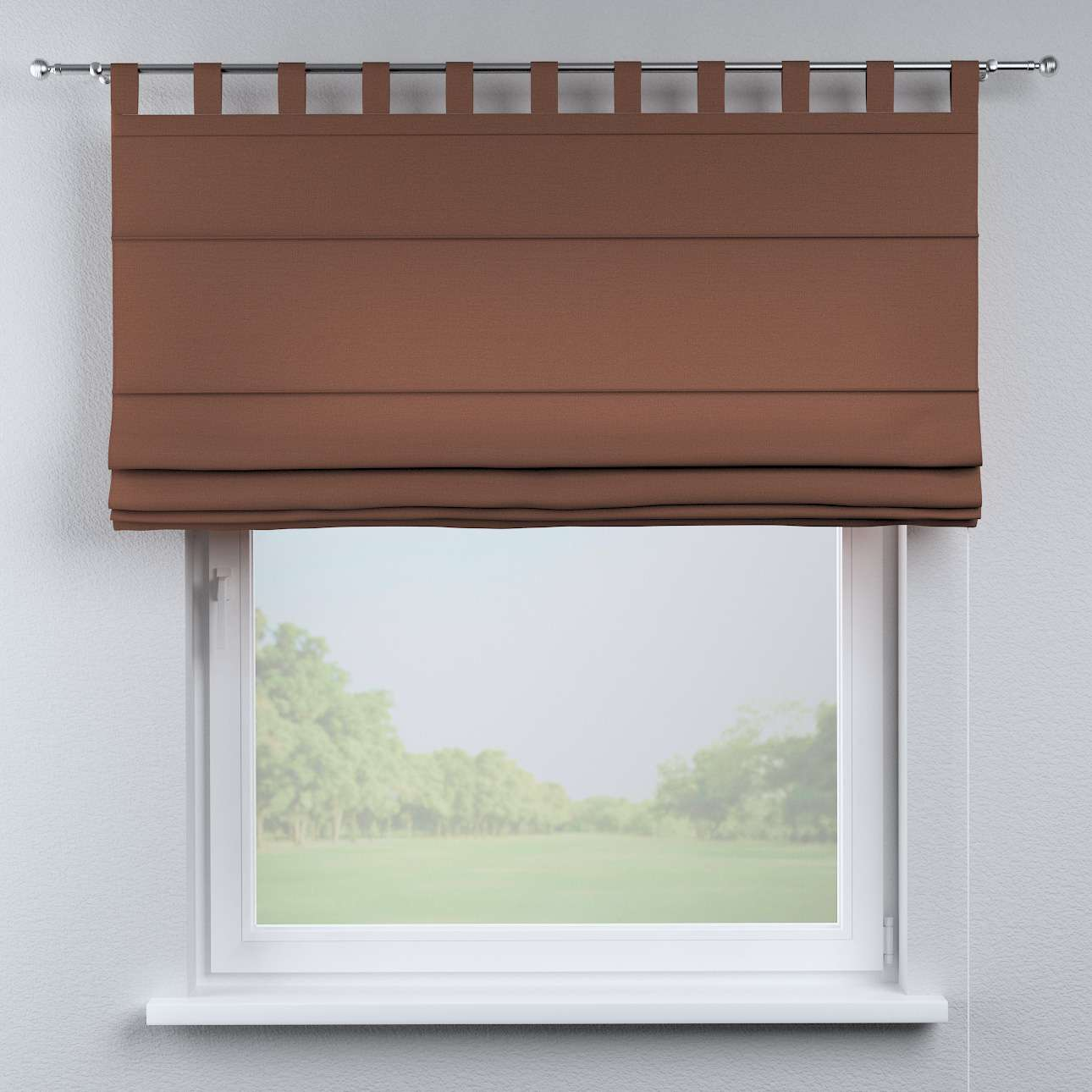 Verona tab top roman blind 80 x 170 cm (31.5 x 67 inch) in collection Loneta , fabric: 133-09