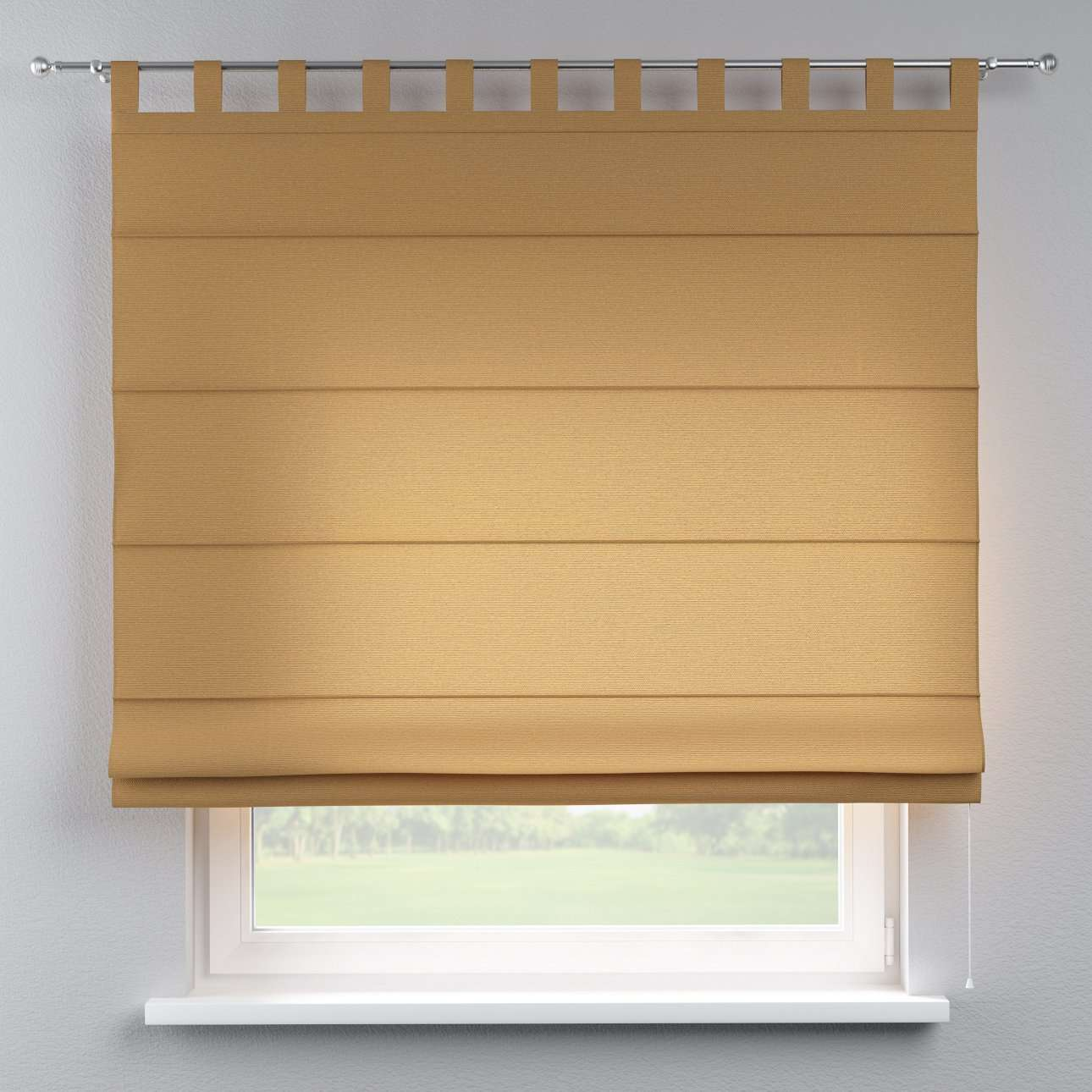 Verona tab top roman blind 80 x 170 cm (31.5 x 67 inch) in collection Loneta , fabric: 133-12