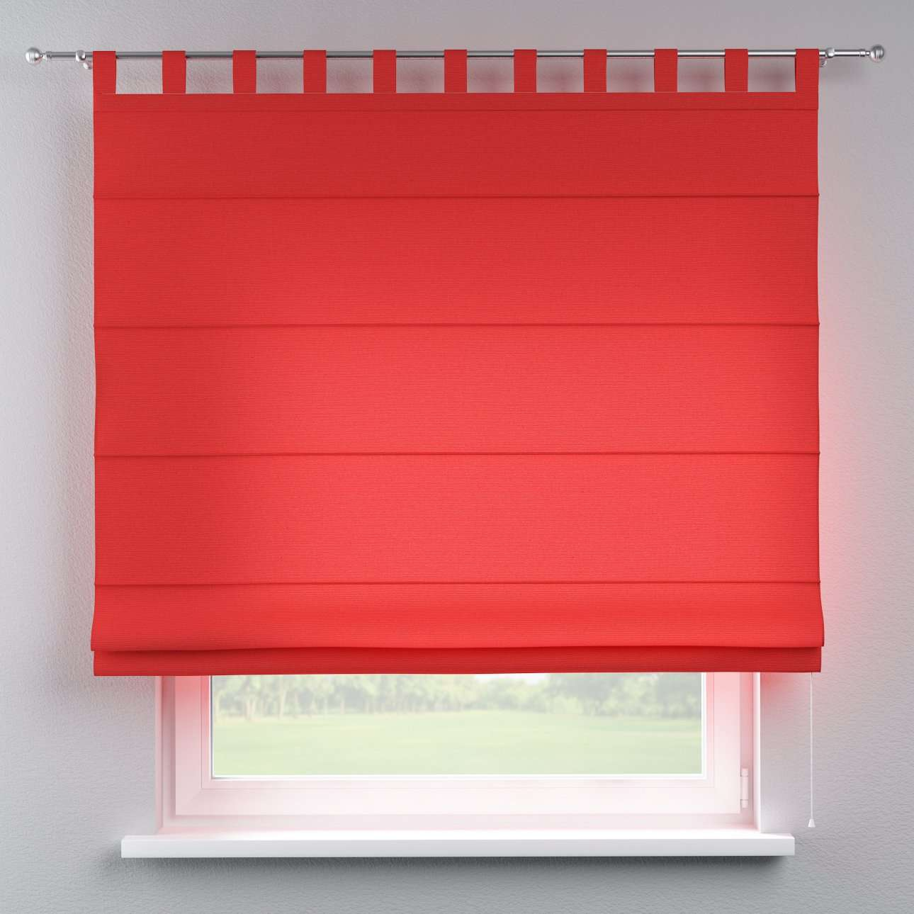 Verona tab top roman blind 80 x 170 cm (31.5 x 67 inch) in collection Loneta , fabric: 133-43