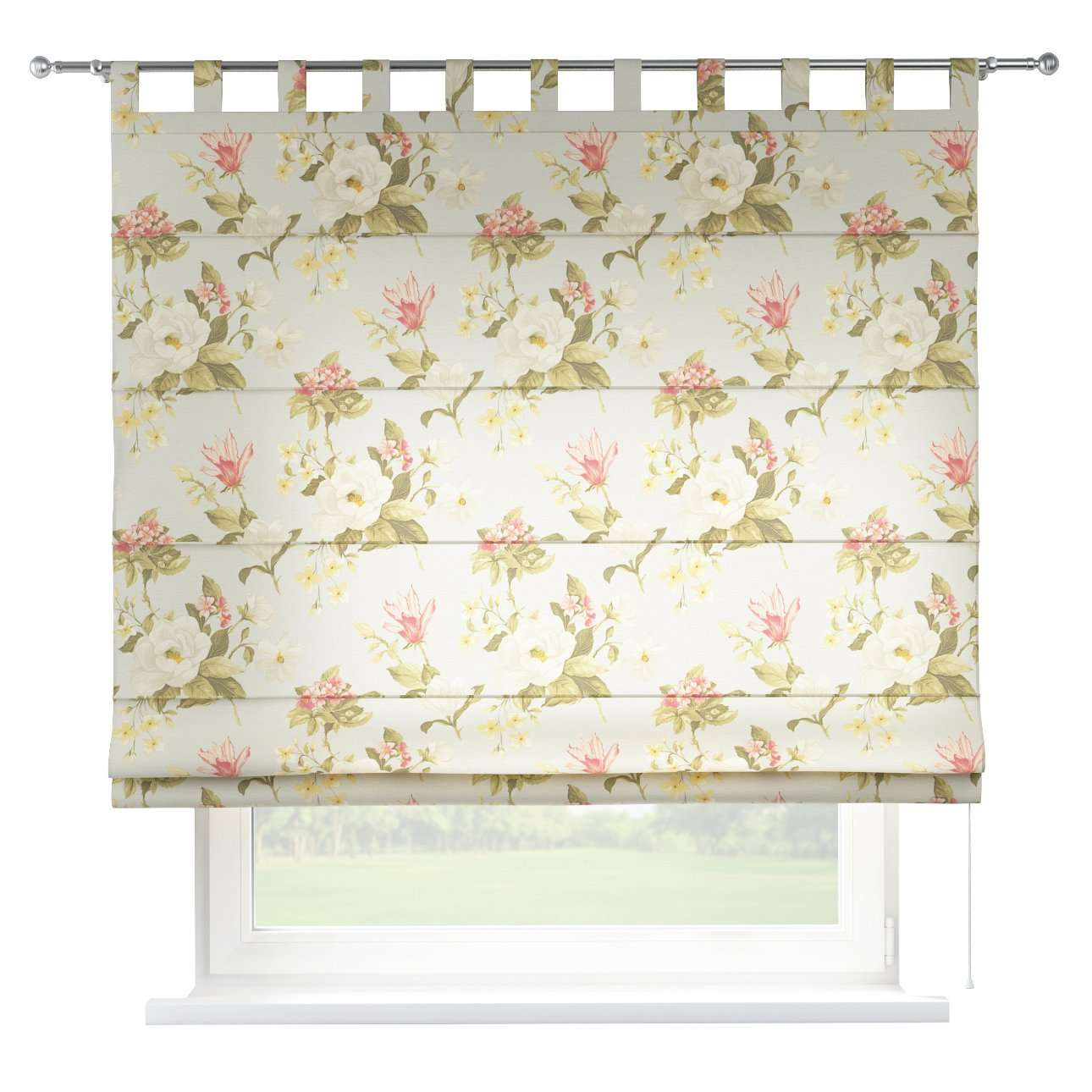 Verona tab top roman blind 80 x 170 cm (31.5 x 67 inch) in collection Londres, fabric: 123-65