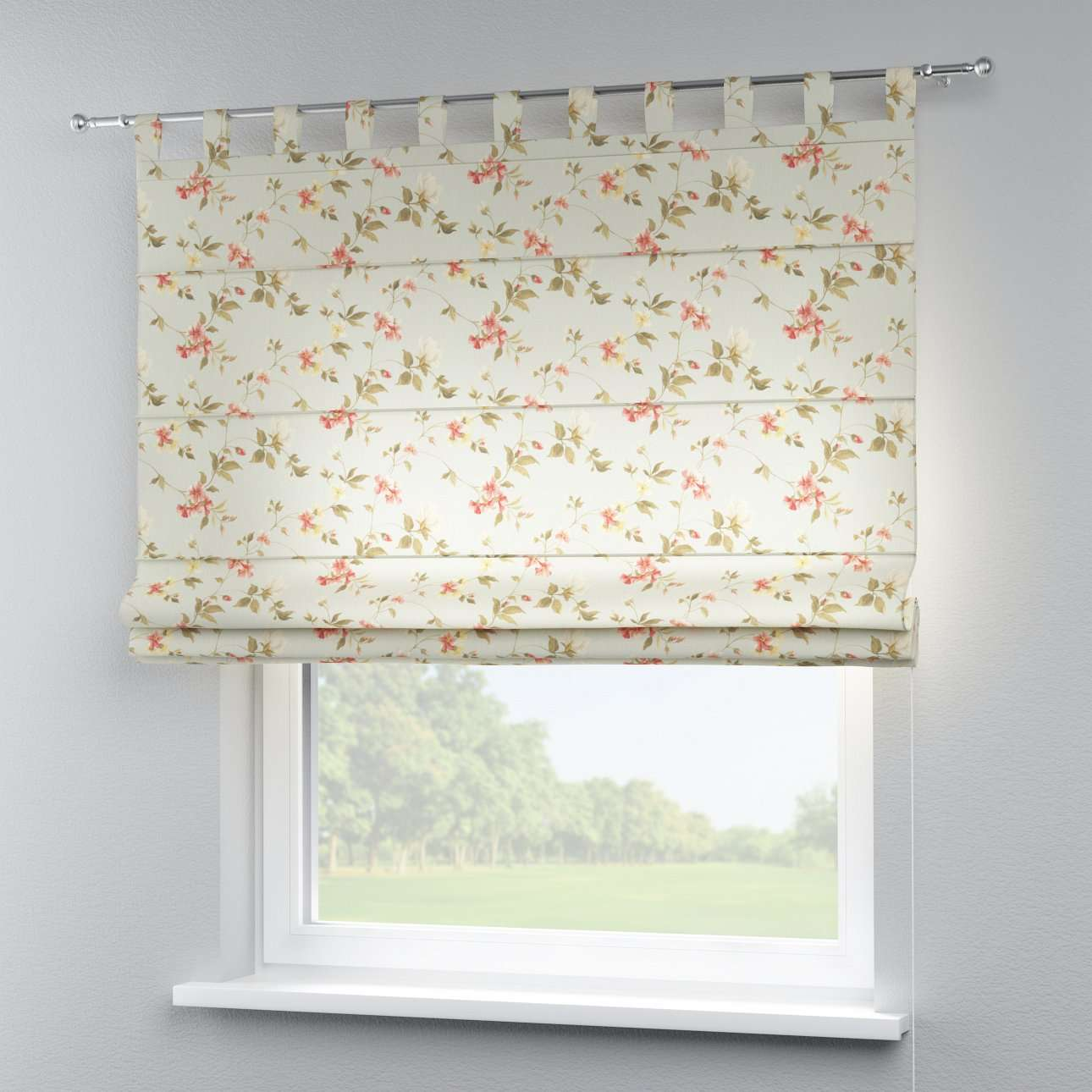 Verona tab top roman blind 80 x 170 cm (31.5 x 67 inch) in collection Londres, fabric: 124-65