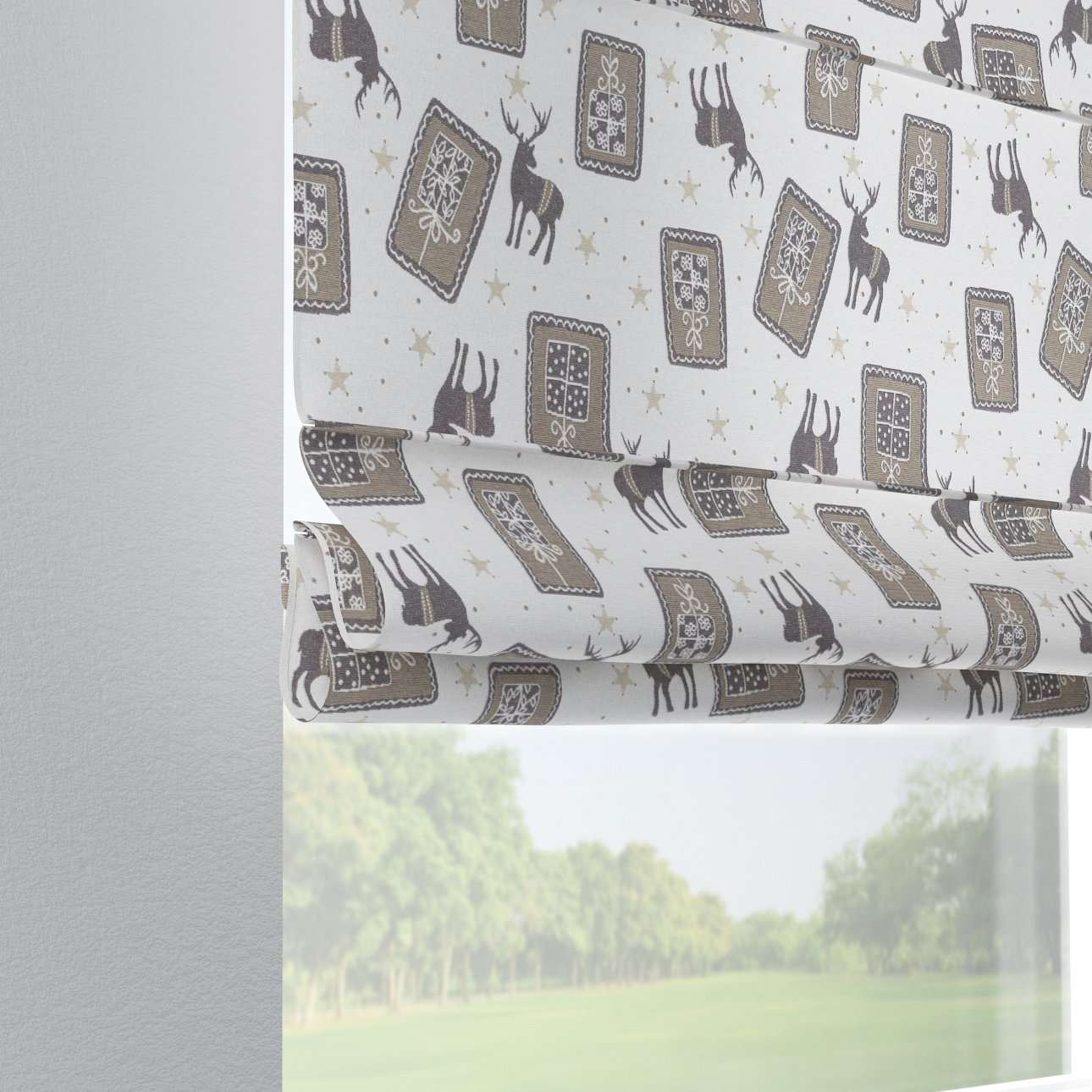 Verona tab top roman blind 80 x 170 cm (31.5 x 67 inch) in collection Nordic, fabric: 630-10