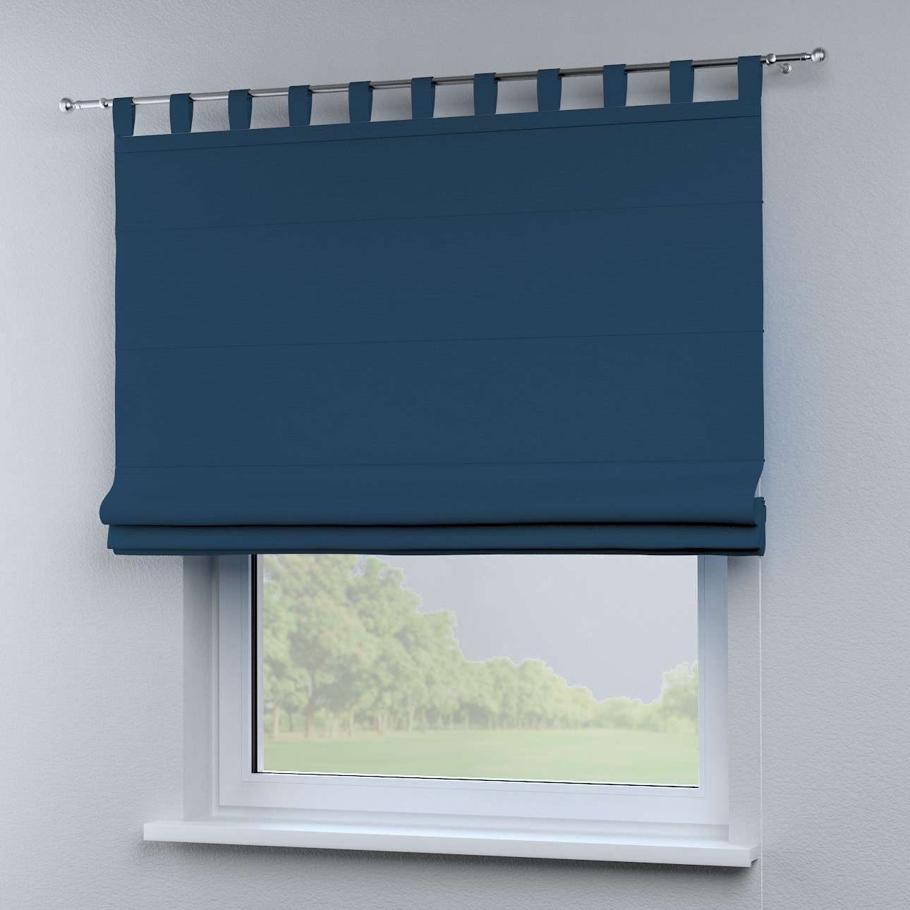 Foldegardin Verona<br/>Med stropper til gardinstang 80 x 170 cm fra kollektionen Cotton Panama, Stof: 702-30