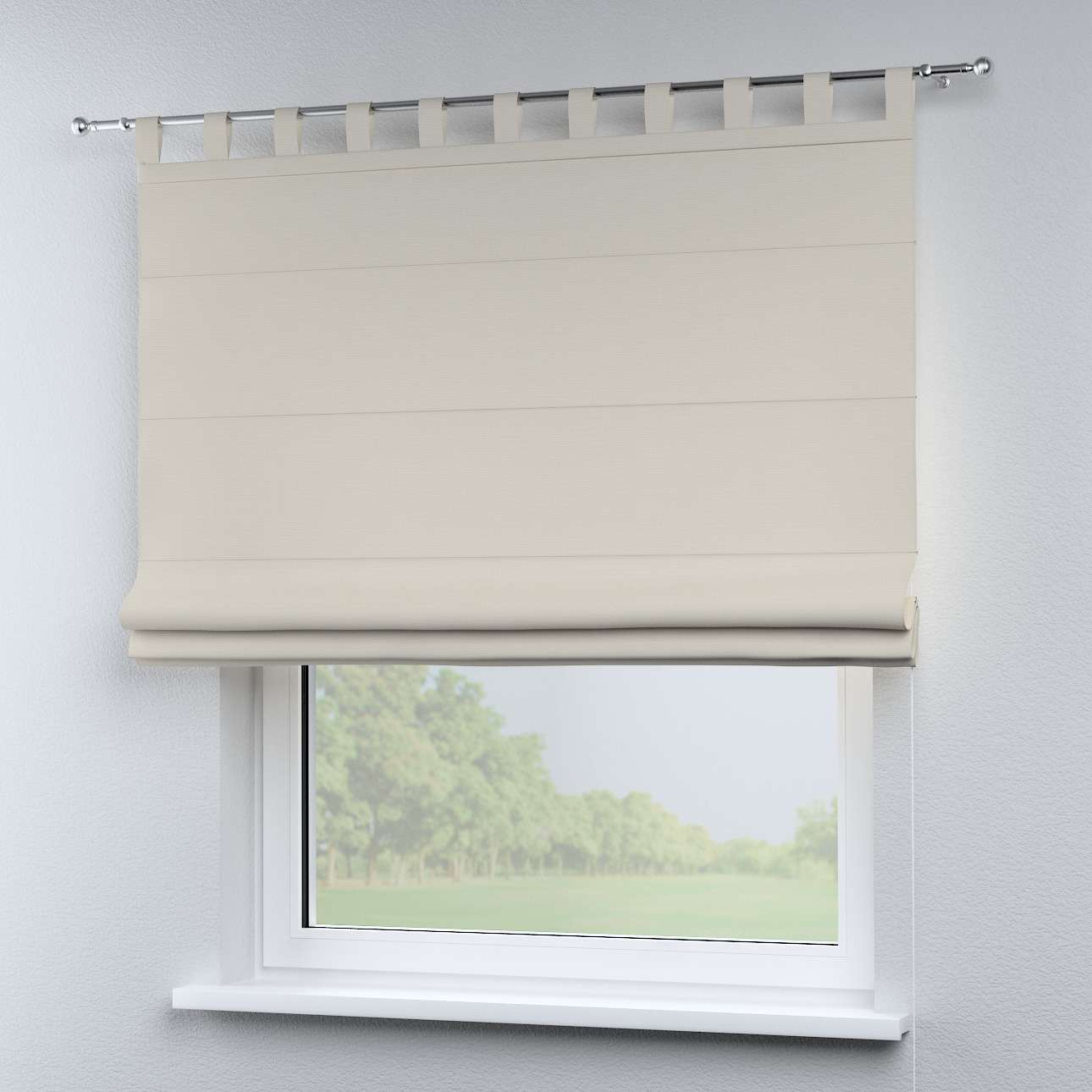 Verona tab top roman blind in collection Panama Cotton, fabric: 702-31
