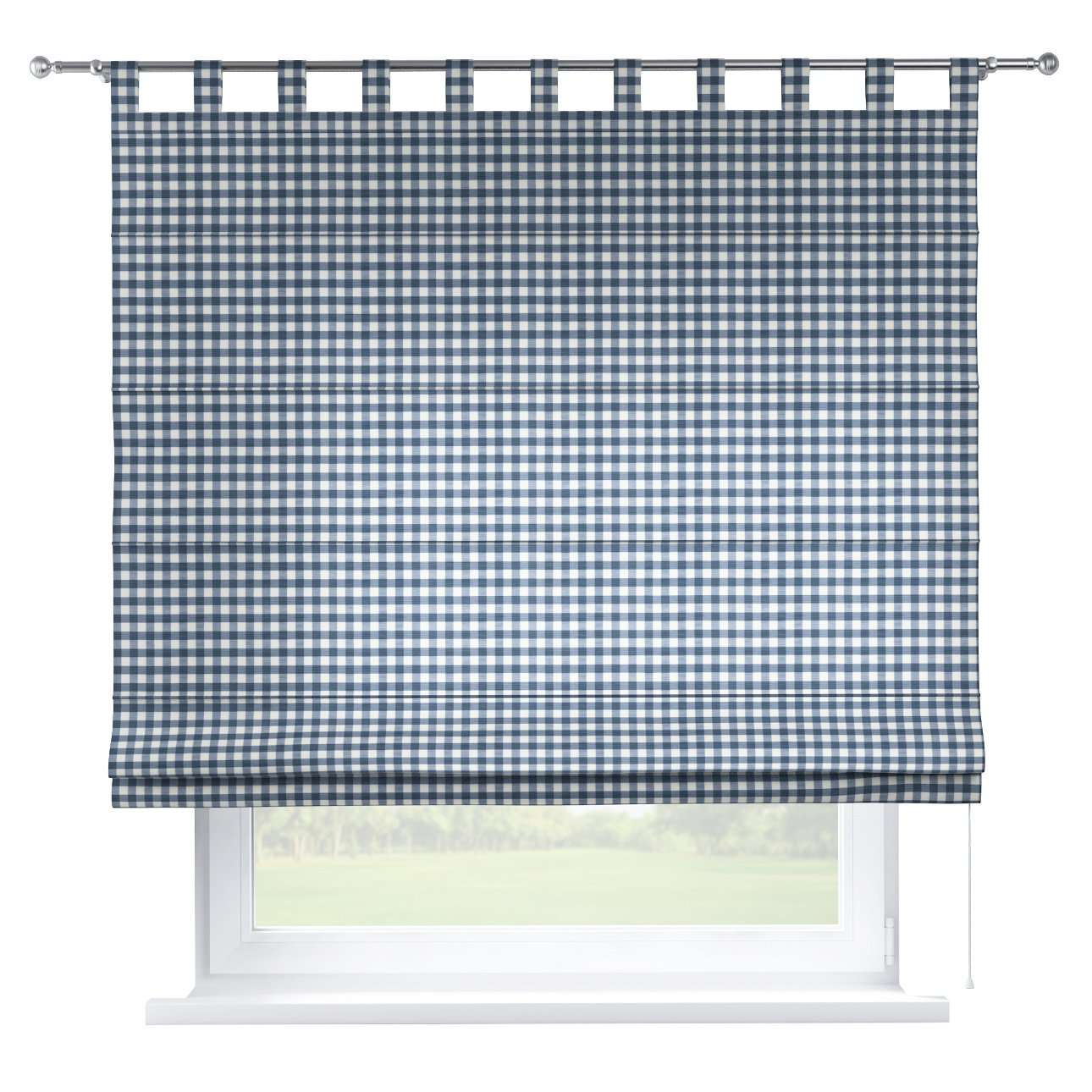 Verona tab top roman blind 80 x 170 cm (31.5 x 67 inch) in collection Quadro, fabric: 136-01
