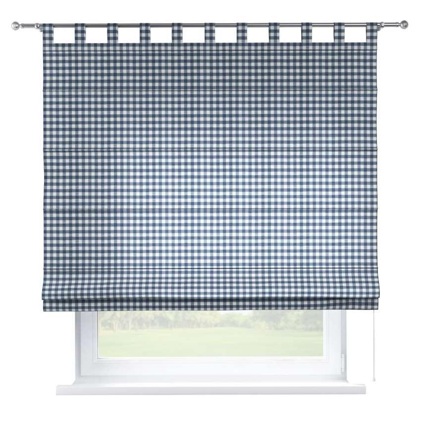 raffrollo verona marinenblau ecru dekoria. Black Bedroom Furniture Sets. Home Design Ideas