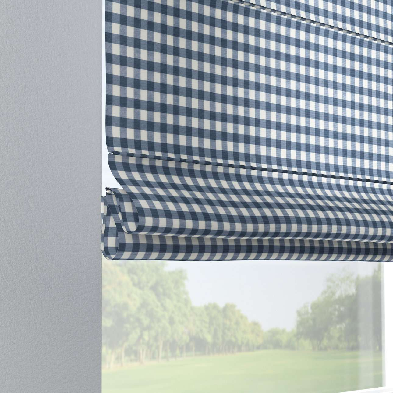 Verona tab top roman blind in collection Quadro, fabric: 136-01