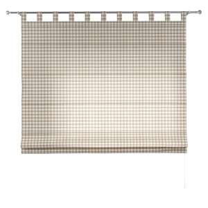 Verona tab top roman blind 80 x 170 cm (31.5 x 67 inch) in collection Quadro, fabric: 136-06