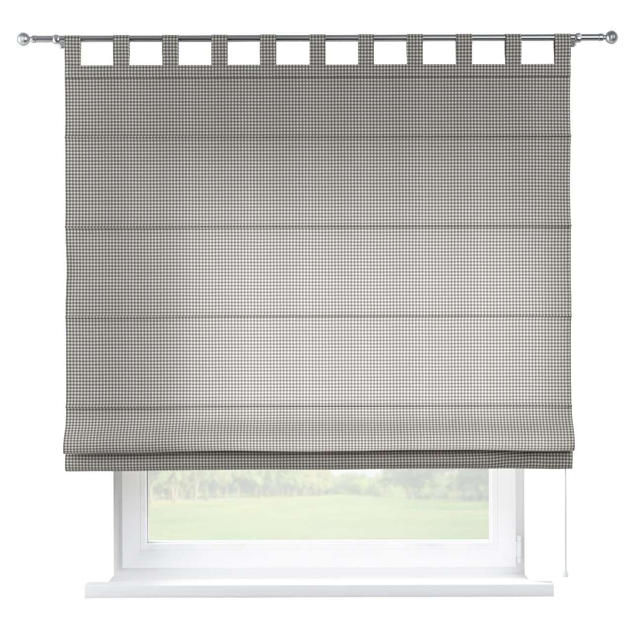 Verona tab top roman blind 80 x 170 cm (31.5 x 67 inch) in collection Quadro, fabric: 136-10