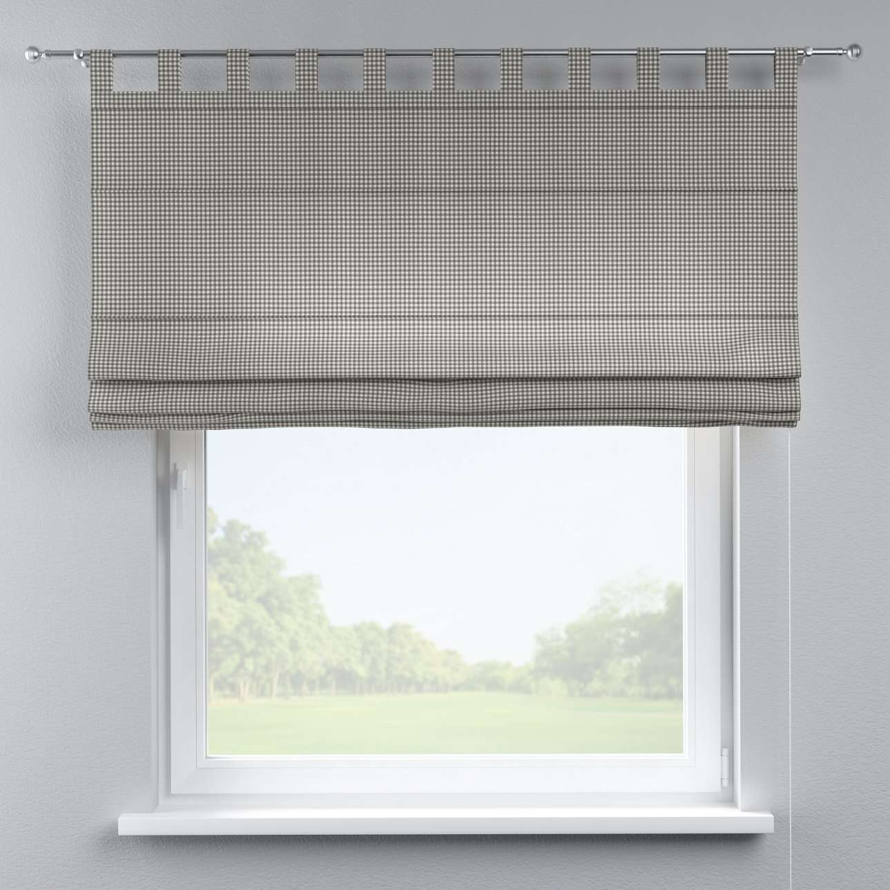 Verona tab top roman blind 80 x 170 cm (31.5 x 67 inch) in collection Quadro, fabric: 136-10