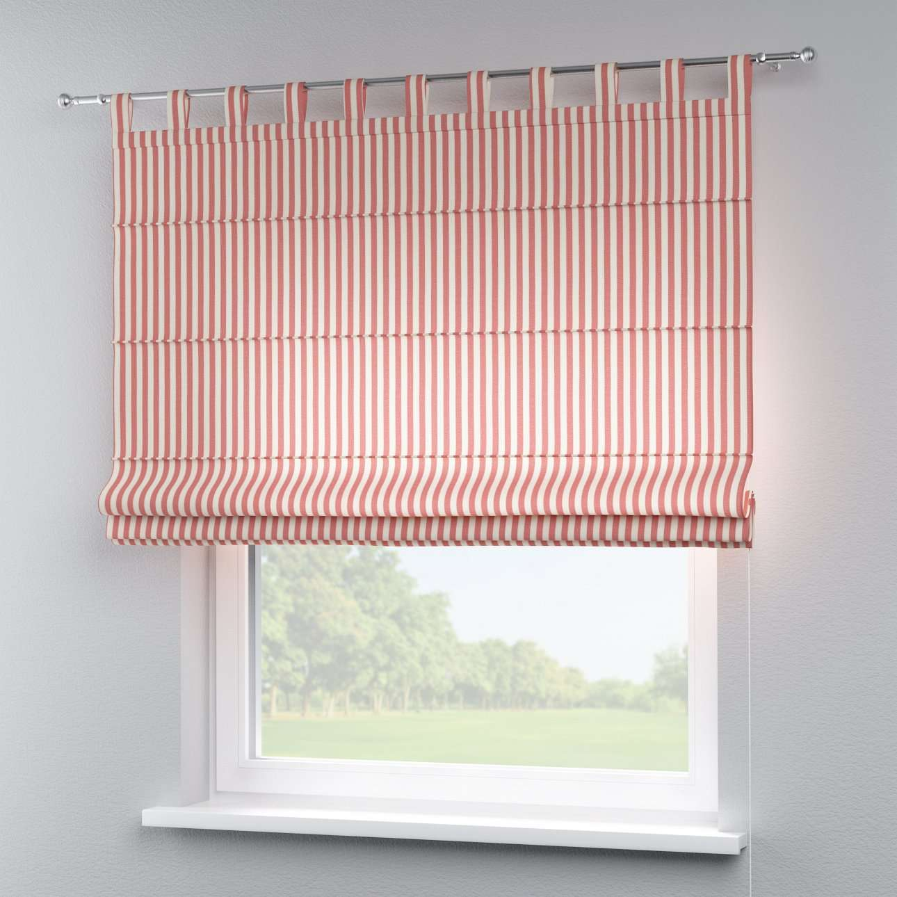Verona tab top roman blind 80 x 170 cm (31.5 x 67 inch) in collection Quadro, fabric: 136-17