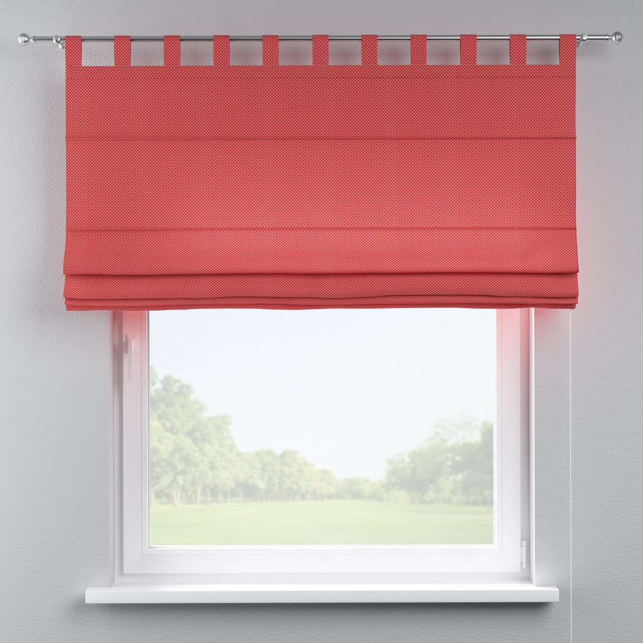 Verona tab top roman blind 80 x 170 cm (31.5 x 67 inch) in collection Ashley, fabric: 137-50