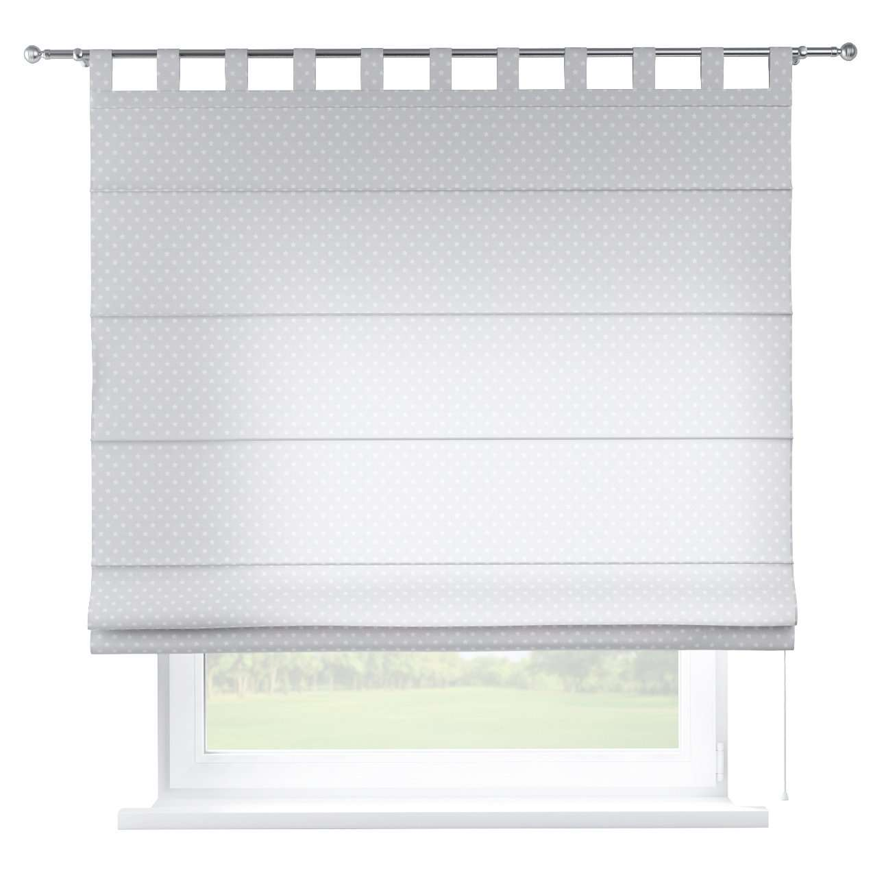Verona tab top roman blind 80 x 170 cm (31.5 x 67 inch) in collection Ashley, fabric: 137-67