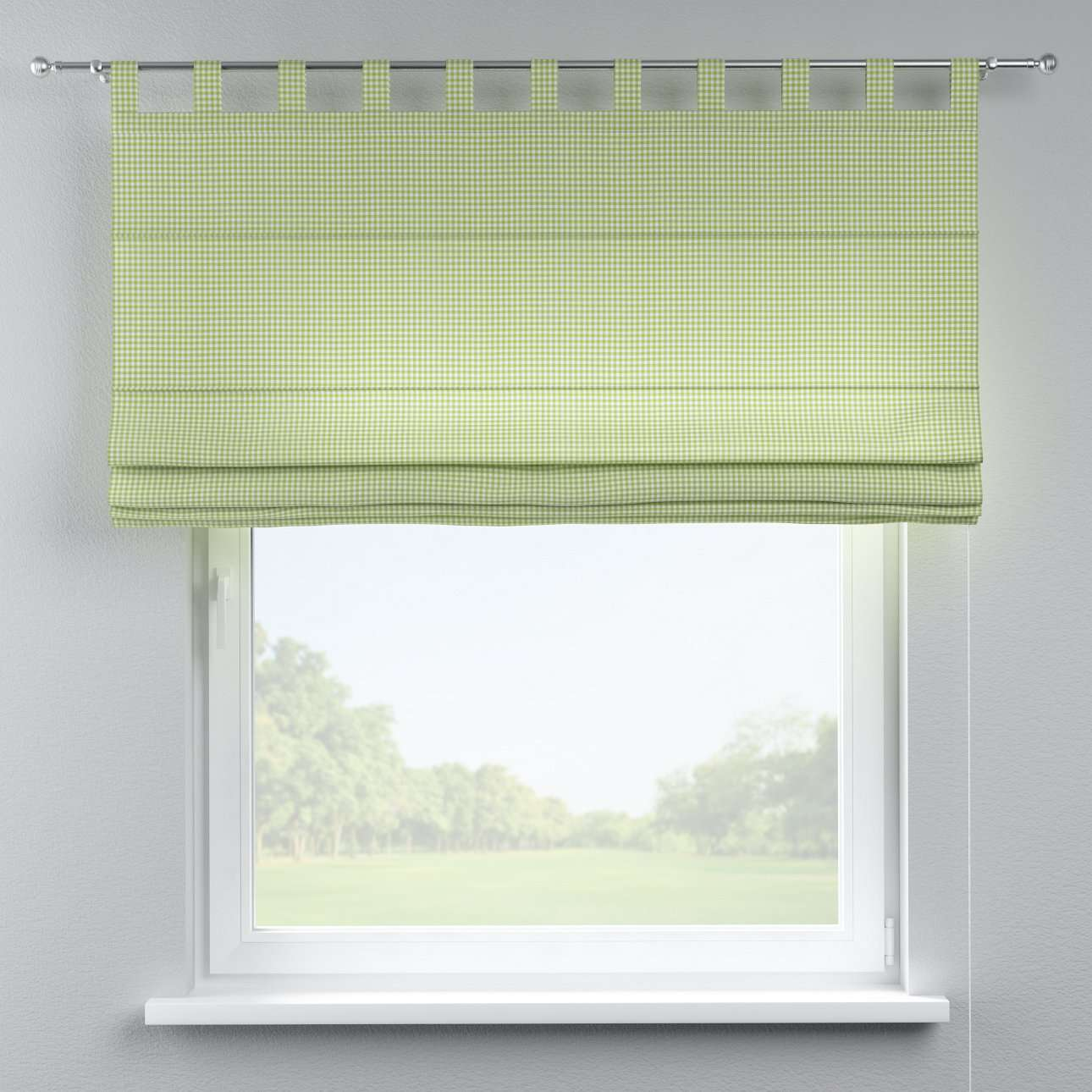 Verona tab top roman blind 80 x 170 cm (31.5 x 67 inch) in collection Quadro, fabric: 136-33