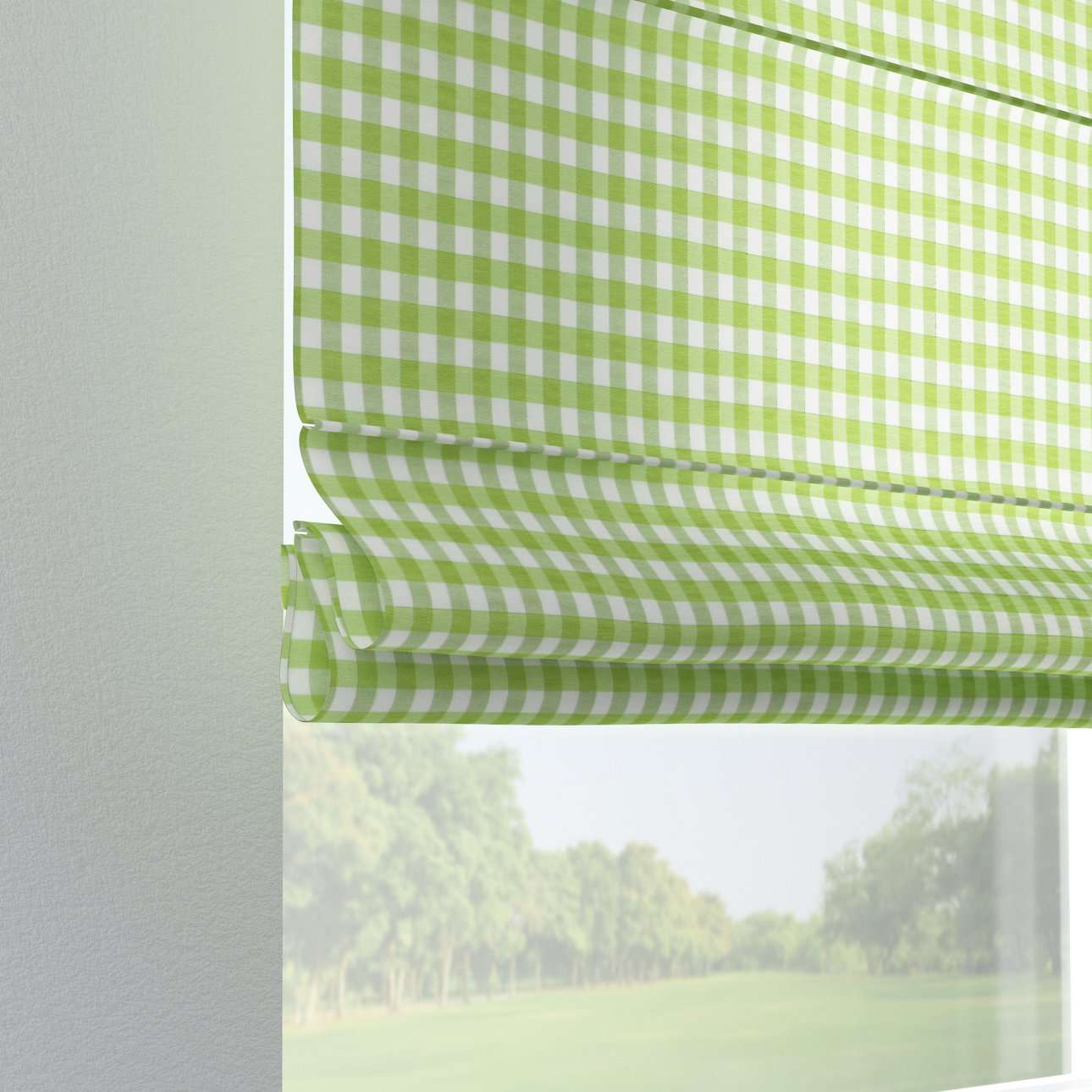 Verona tab top roman blind 80 x 170 cm (31.5 x 67 inch) in collection Quadro, fabric: 136-34
