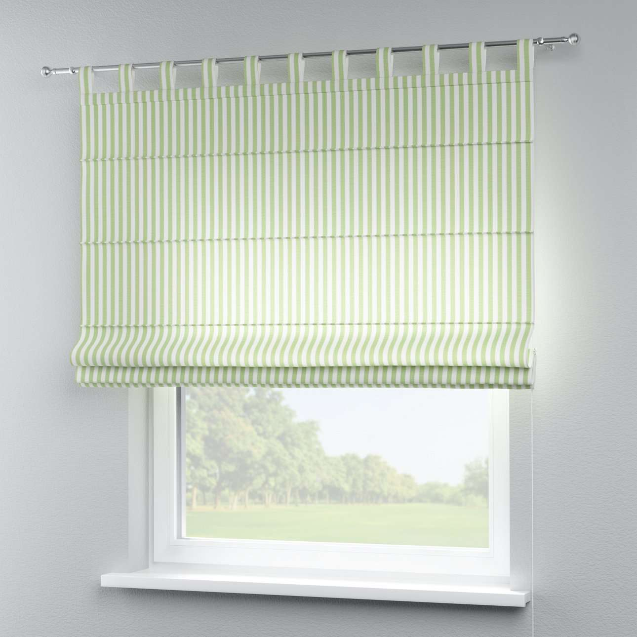 Verona tab top roman blind 80 x 170 cm (31.5 x 67 inch) in collection Quadro, fabric: 136-35