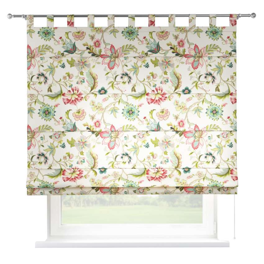 Verona Tab Top Roman Blind Multicolour Big Flowers On