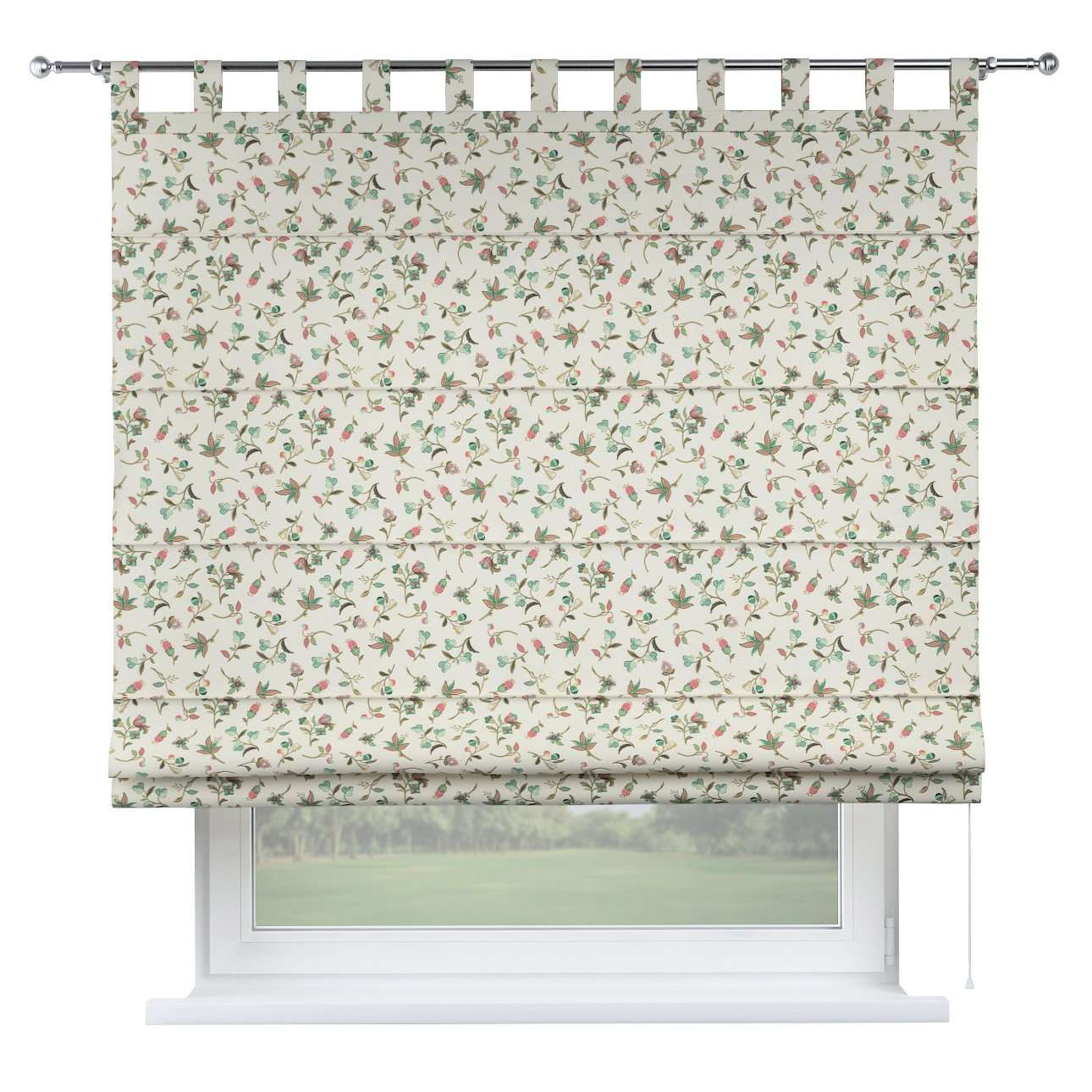 Verona tab top roman blind 80 x 170 cm (31.5 x 67 inch) in collection Londres, fabric: 122-02
