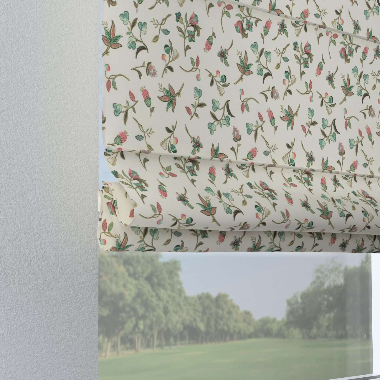 Raffrollo Verona 80 x 170 cm von der Kollektion Londres, Stoff: 122-02