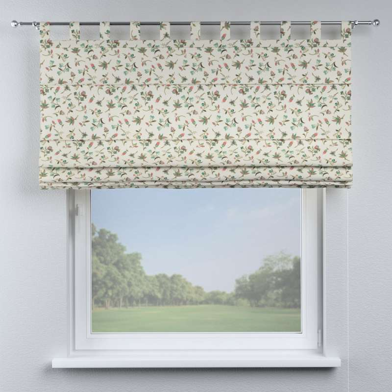 Verona Tab Top Roman Blind Multicolour Small Flowers On