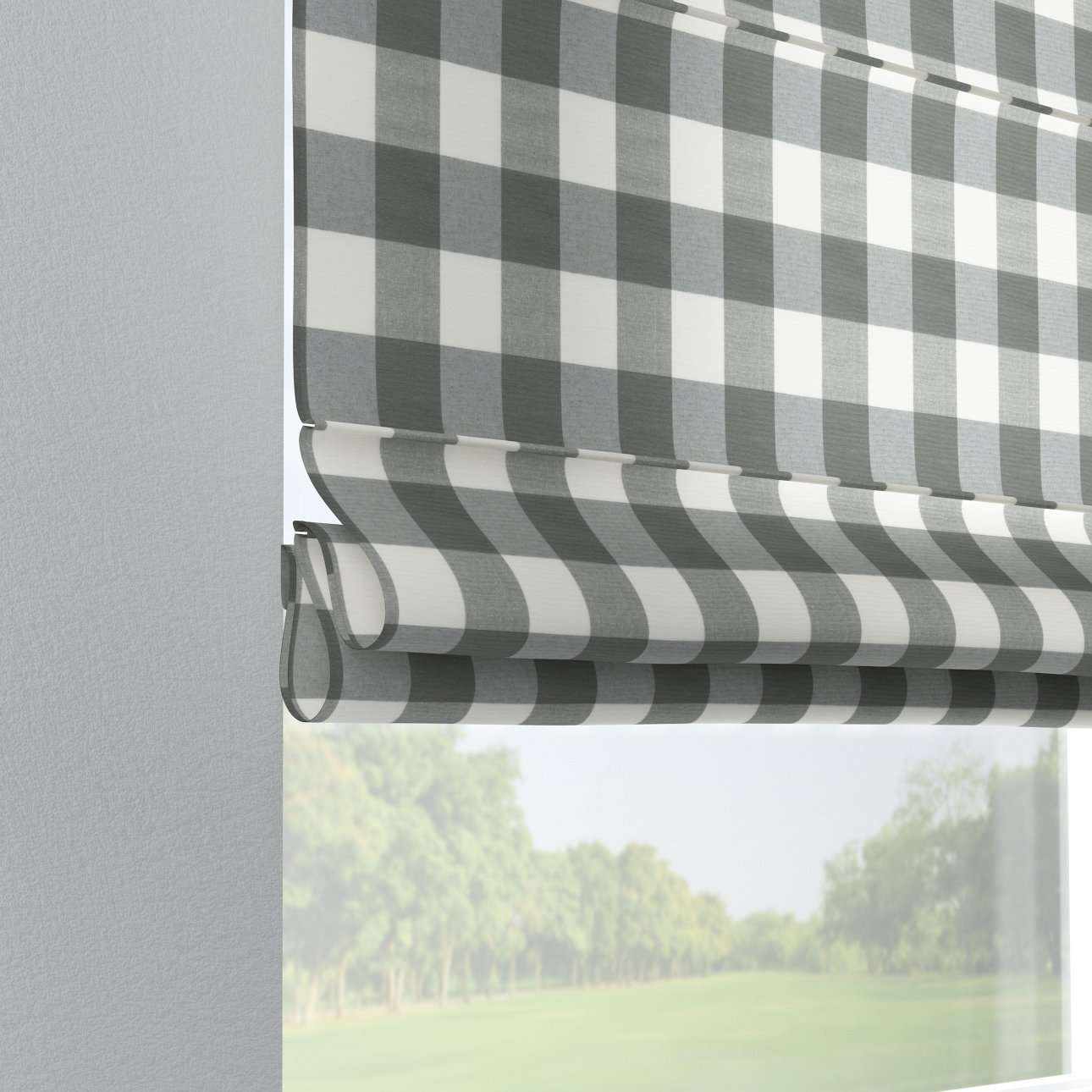 Liftgardin Verona<br/>Med stropper til gardinstang 80 × 170 cm fra kolleksjonen Quadro, Stoffets bredde: 136-13