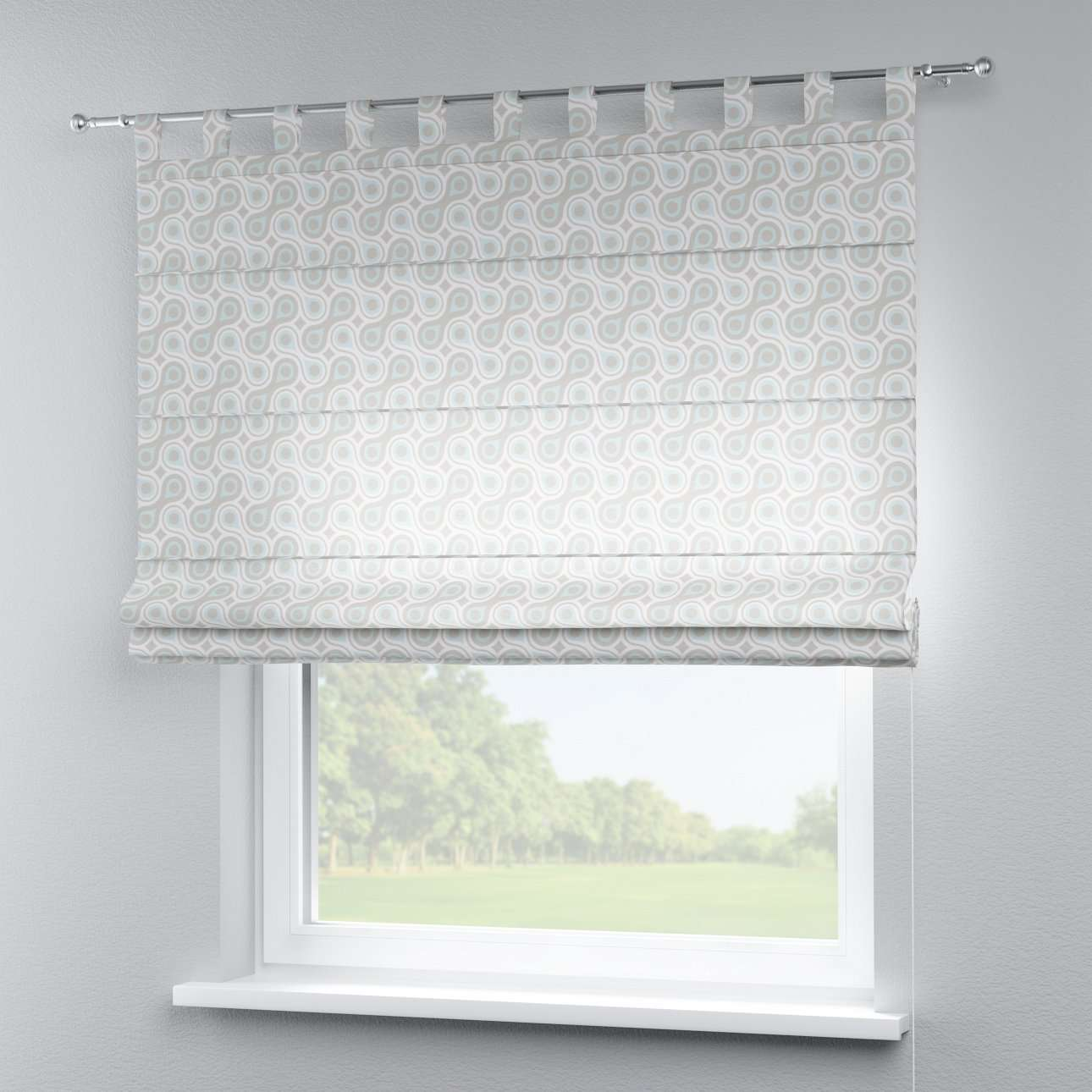 Verona tab top roman blind 80 × 170 cm (31.5 × 67 inch) in collection Flowers, fabric: 311-13