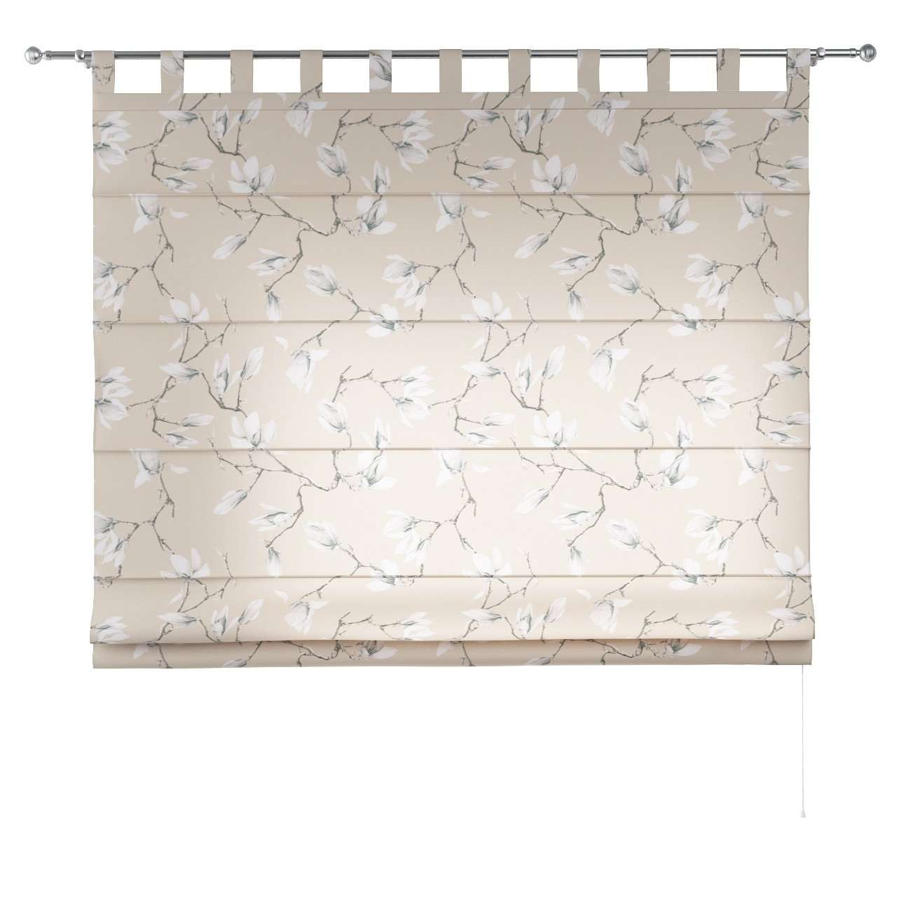 Verona tab top roman blind 80 x 170 cm (31.5 x 67 inch) in collection Flowers, fabric: 311-12