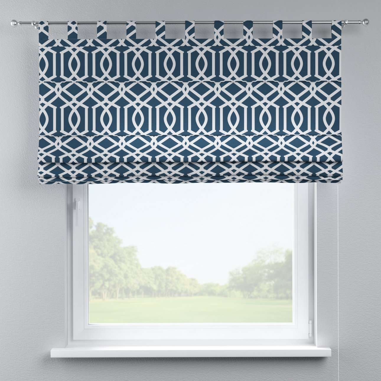Verona tab top roman blind 80 x 170 cm (31.5 x 67 inch) in collection Comic Book & Geo Prints, fabric: 135-10