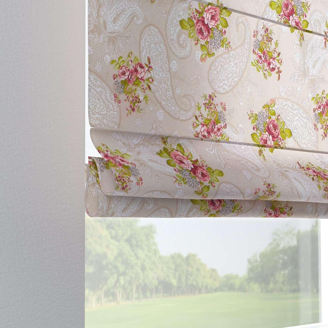 Foldegardin Verona<br/>Med stropper til gardinstang 80 x 170 cm fra kollektionen Flowers, Stof: 311-15
