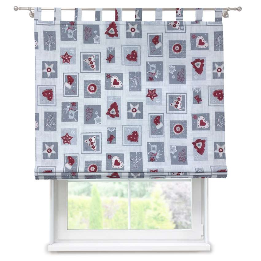 Verona tab top roman blind 80 x 170 cm (31.5 x 67 inch) in collection Christmas , fabric: 629-23