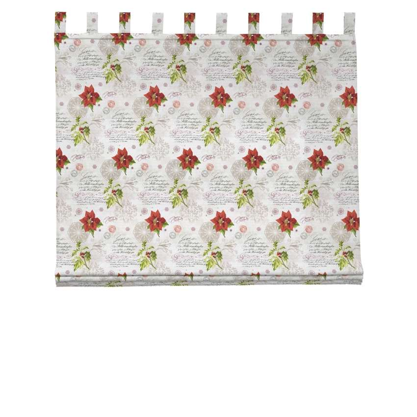 Verona tab top roman blind 80 x 170 cm (31.5 x 67 inch) in collection Christmas , fabric: 629-24