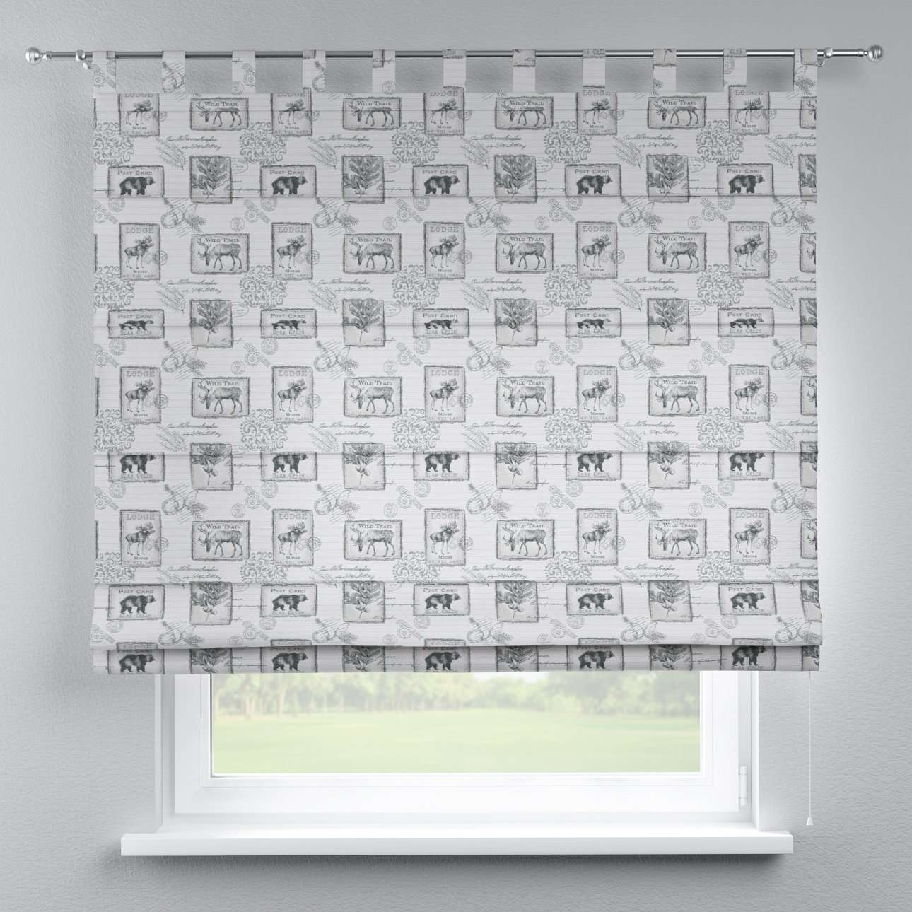 Verona tab top roman blind 80 x 170 cm (31.5 x 67 inch) in collection Nordic, fabric: 630-18