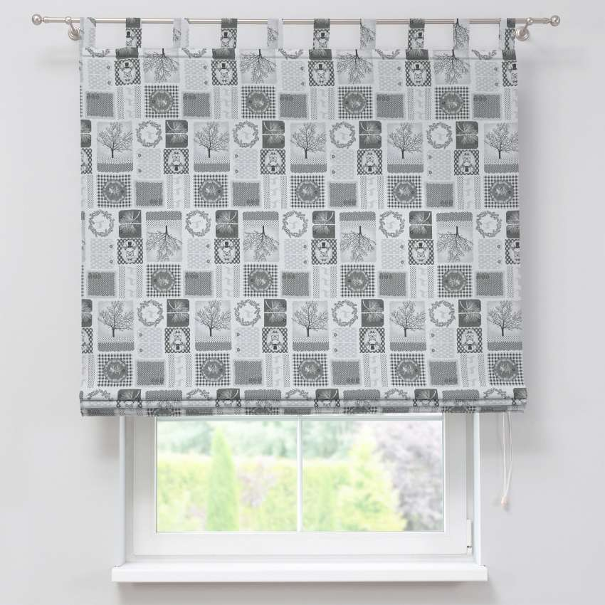 Verona tab top roman blind 80 x 170 cm (31.5 x 67 inch) in collection Christmas , fabric: 630-20