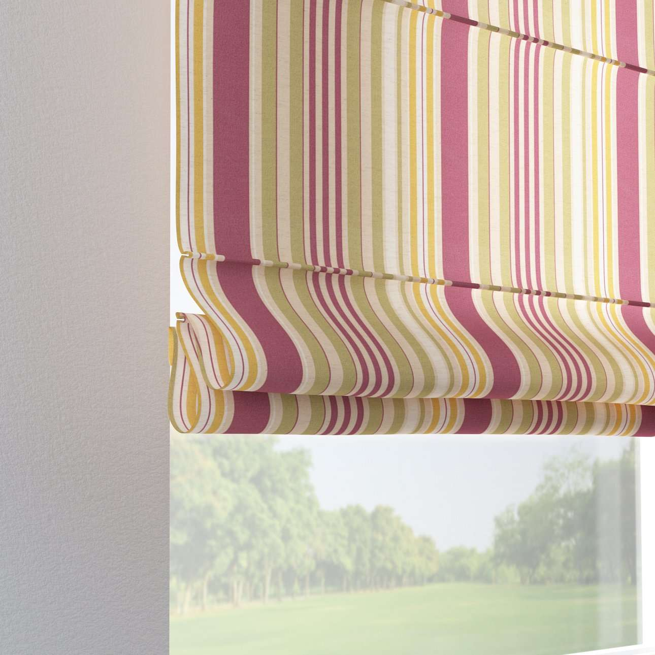 Verona tab top roman blind 80 x 170 cm (31.5 x 67 inch) in collection Londres, fabric: 122-09