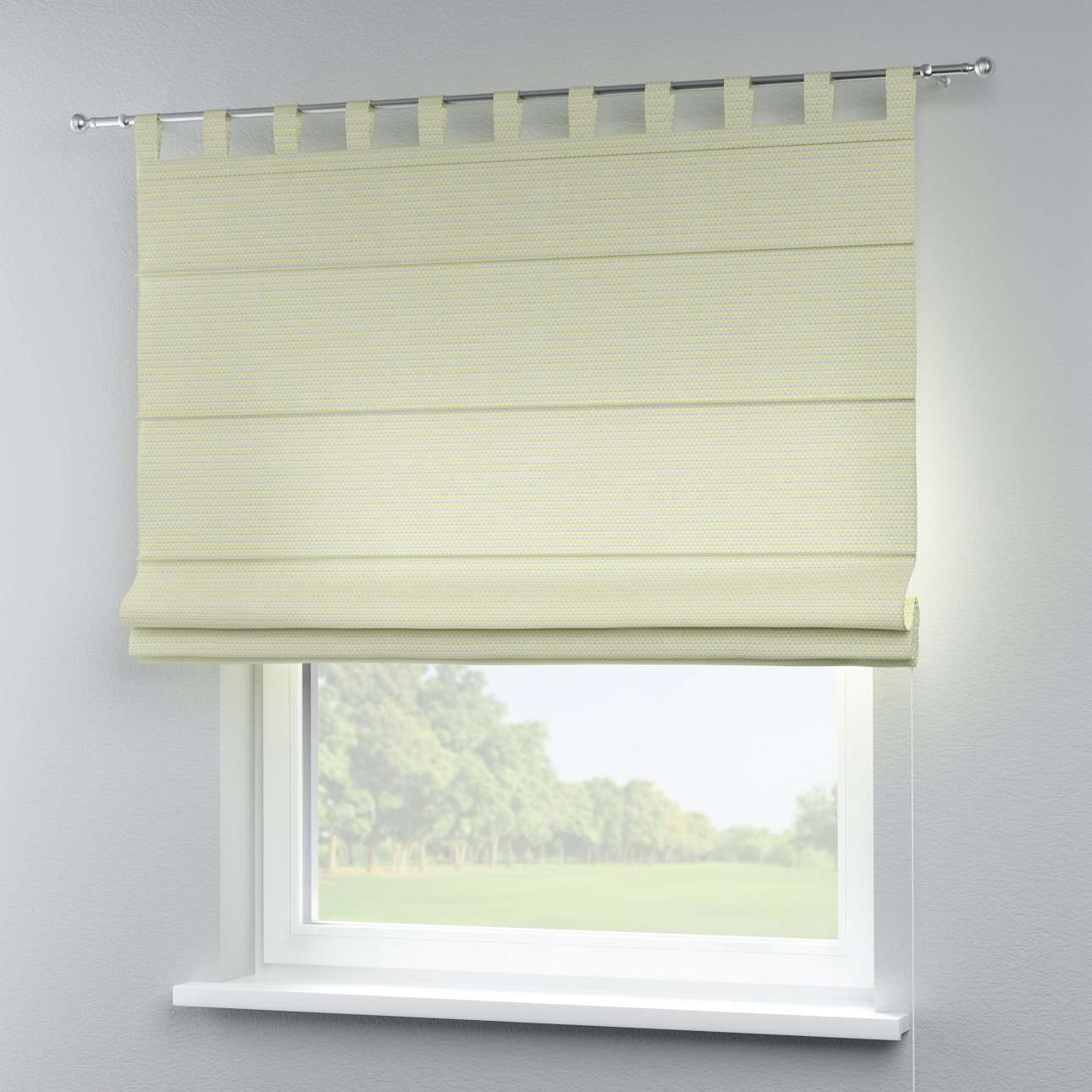 Verona tab top roman blind 80 x 170 cm (31.5 x 67 inch) in collection Rustica, fabric: 140-34