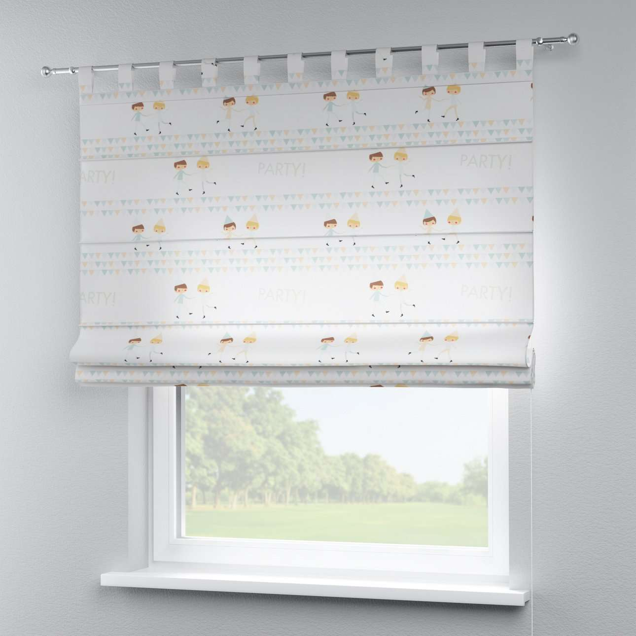 Verona tab top roman blind 80 x 170 cm (31.5 x 67 inch) in collection Apanona, fabric: 151-01