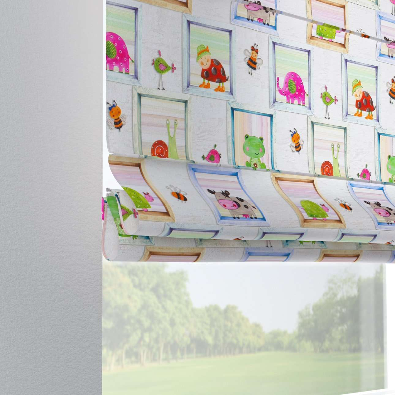 Laskosverho Verona<br/>Lenkit verhotankoon mallistosta Little World, Kangas: 151-04