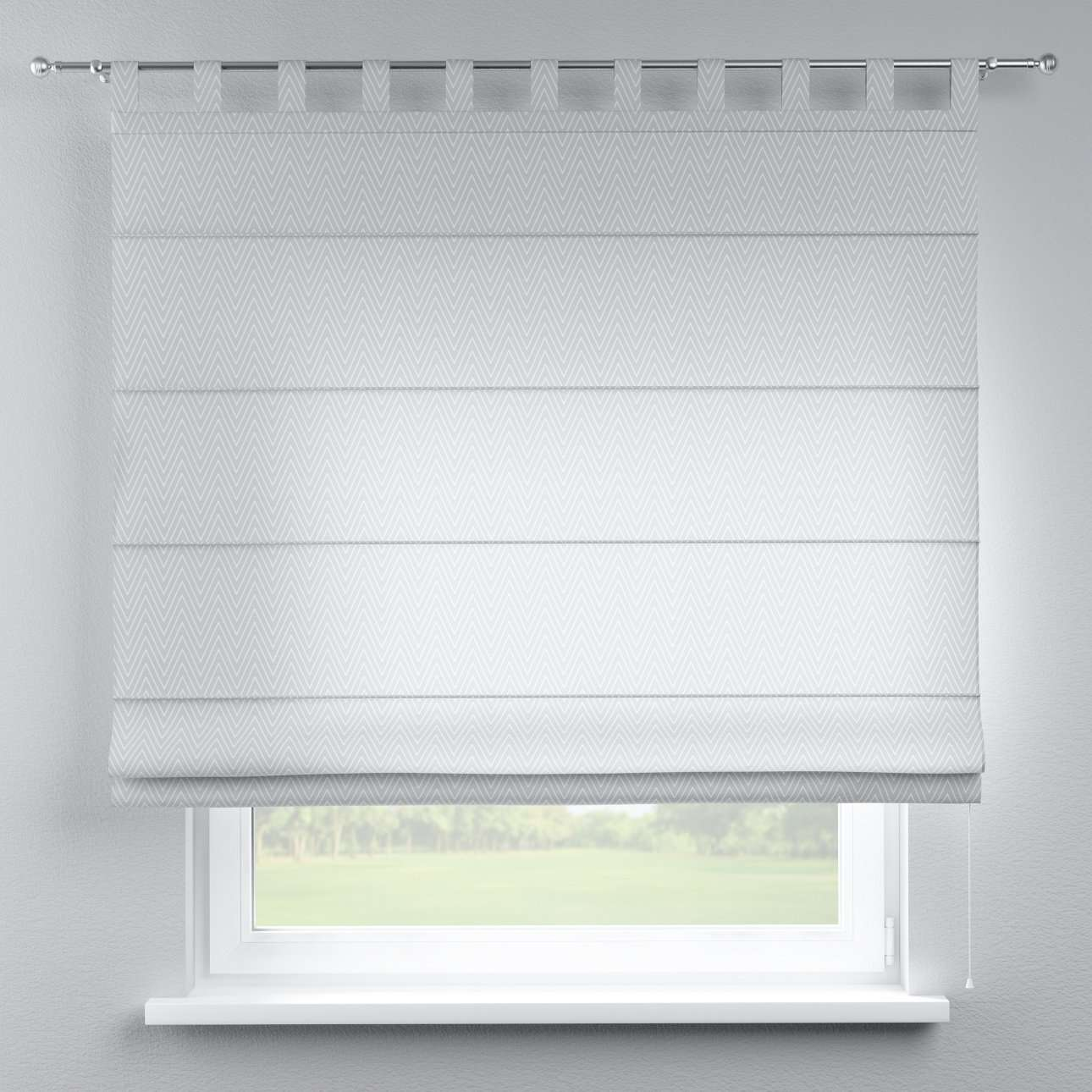Verona tab top roman blind 80 x 170 cm (31.5 x 67 inch) in collection Brooklyn, fabric: 137-87