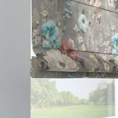Foldegardin Verona<br/>Med stropper til gardinstang 137-81 Naturhvid med print Kollektion Flowers