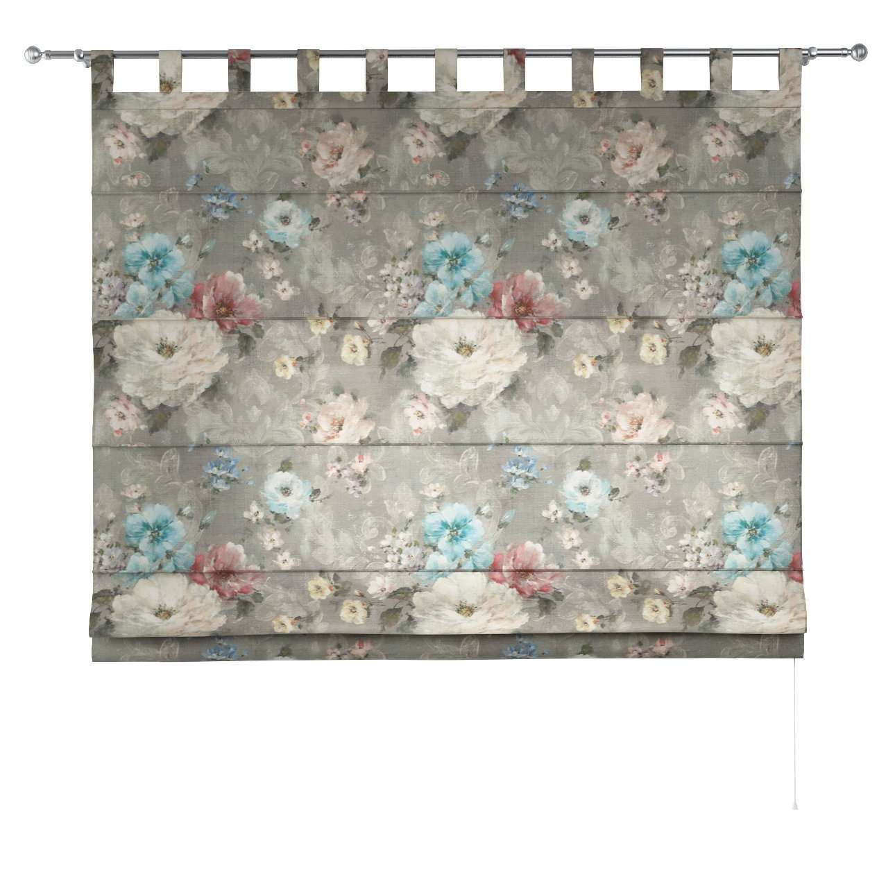 Verona tab top roman blind 80 x 170 cm (31.5 x 67 inch) in collection Monet, fabric: 137-81