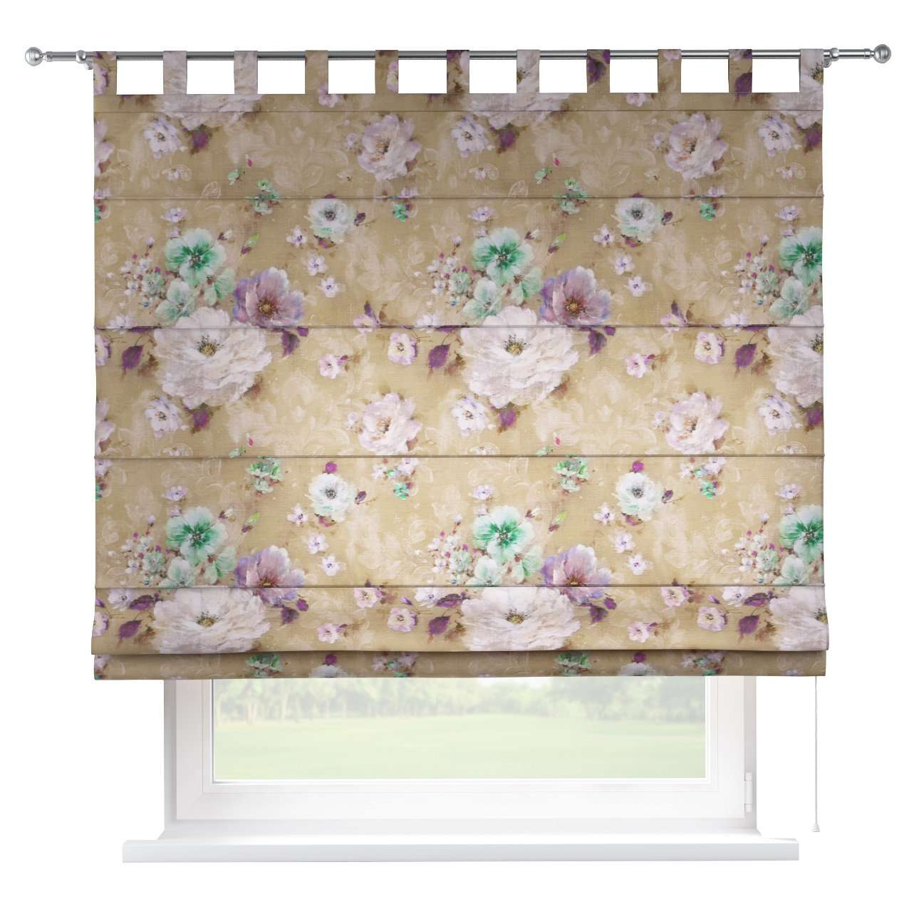 Verona tab top roman blind 80 x 170 cm (31.5 x 67 inch) in collection Monet, fabric: 137-82