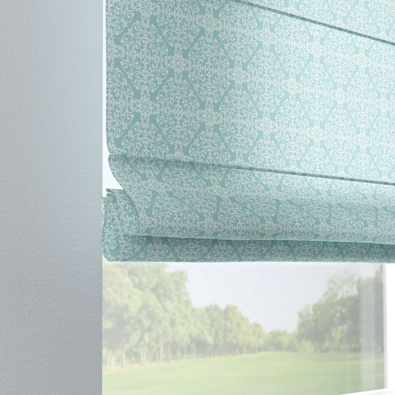 Verona tab top roman blind 80 x 170 cm (31.5 x 67 inch) in collection Flowers, fabric: 140-37