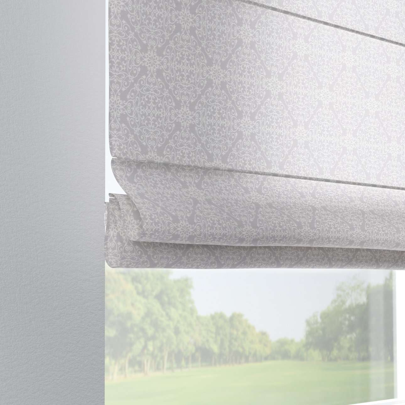 Foldegardin Verona<br/>Med stropper til gardinstang 80 x 170 cm fra kollektionen Flowers, Stof: 140-38