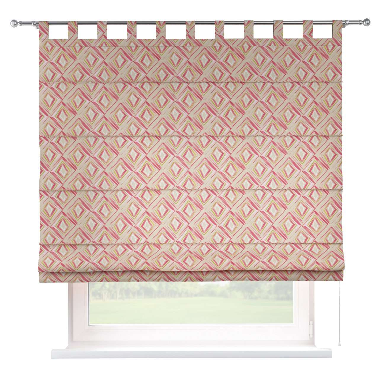 Verona tab top roman blind in collection Londres, fabric: 140-45