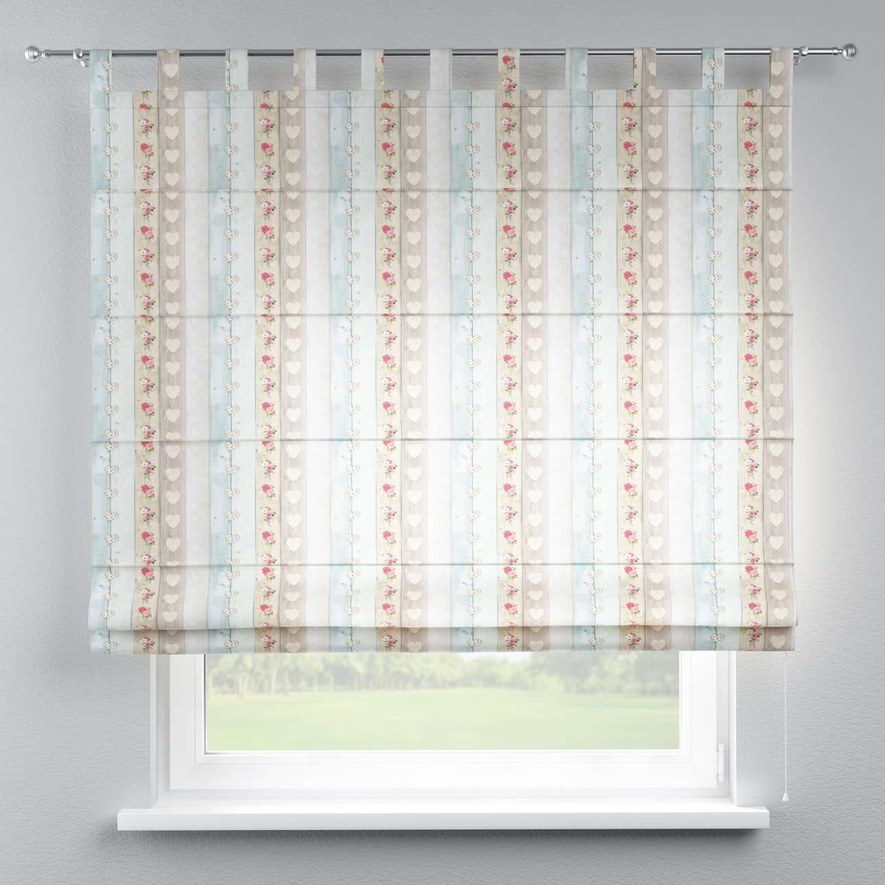 Foldegardin Verona<br/>Med stropper til gardinstang 80 x 170 cm fra kollektionen Ashley, Stof: 140-20