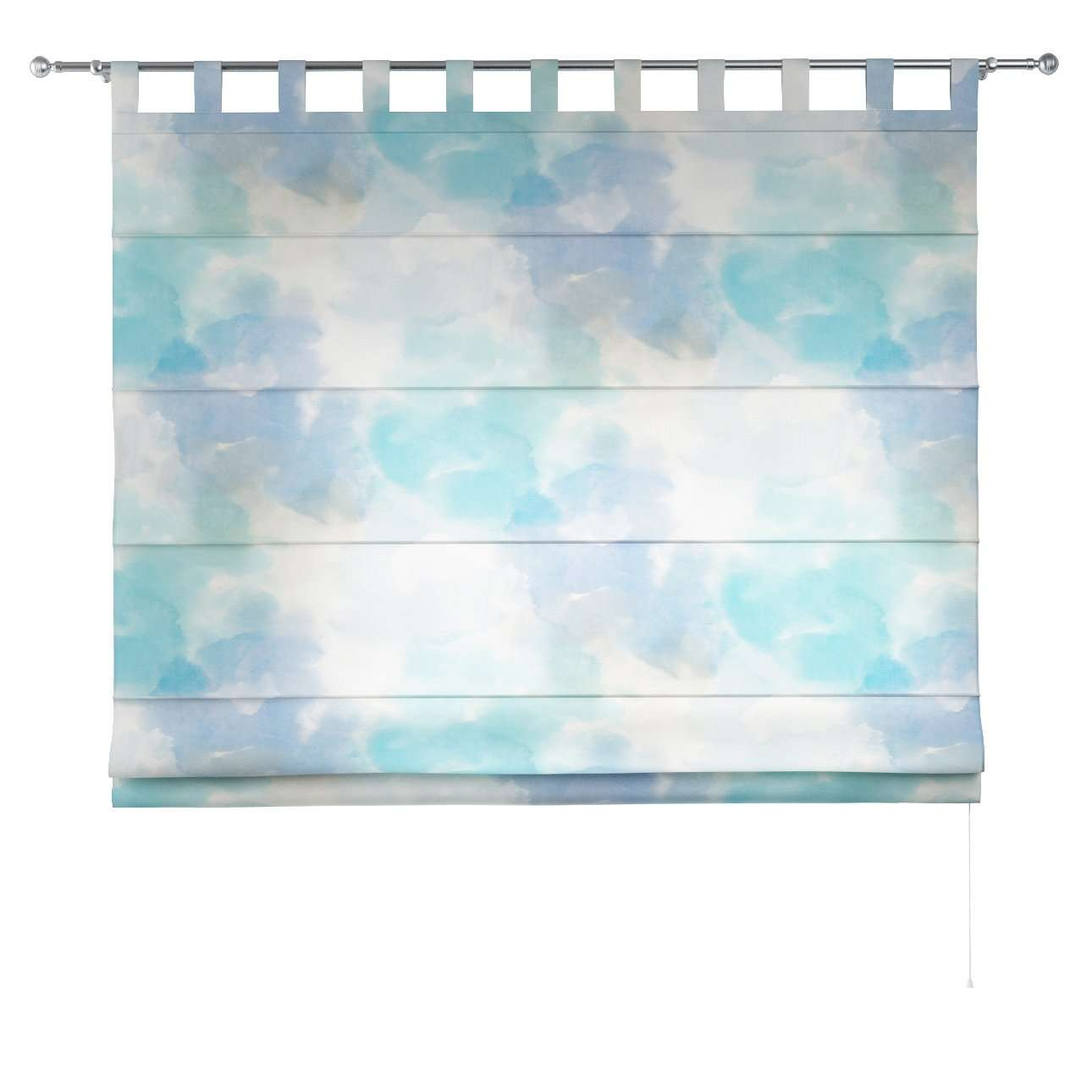 Verona tab top roman blind 80 x 170 cm (31.5 x 67 inch) in collection Aquarelle, fabric: 140-67