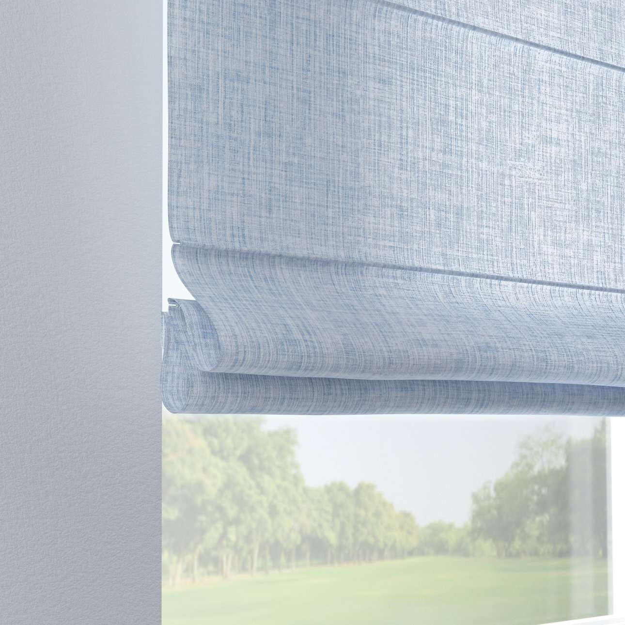 Verona tab top roman blind 80 x 170 cm (31.5 x 67 inch) in collection Aquarelle, fabric: 140-74
