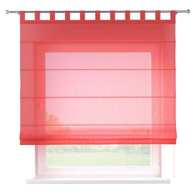 Verona tab top roman blind 128-02 sheer red Collection SALE