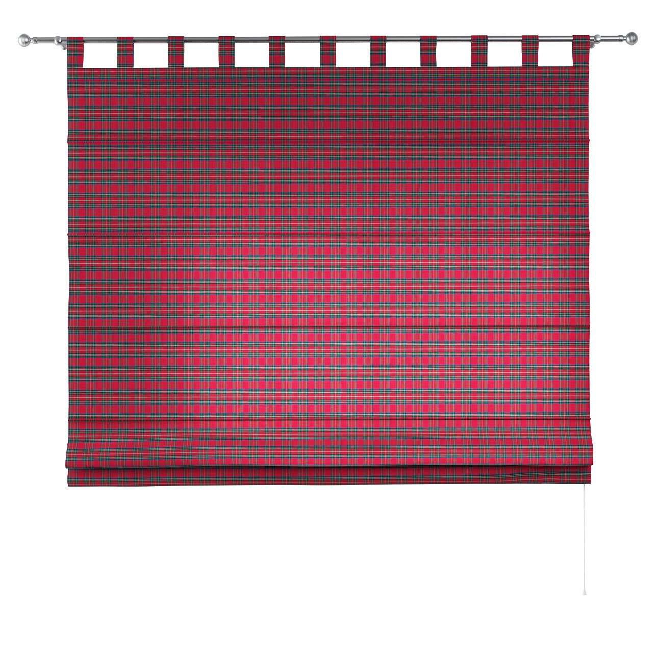 Verona tab top roman blind 80 x 170 cm (31.5 x 67 inch) in collection Bristol, fabric: 126-29